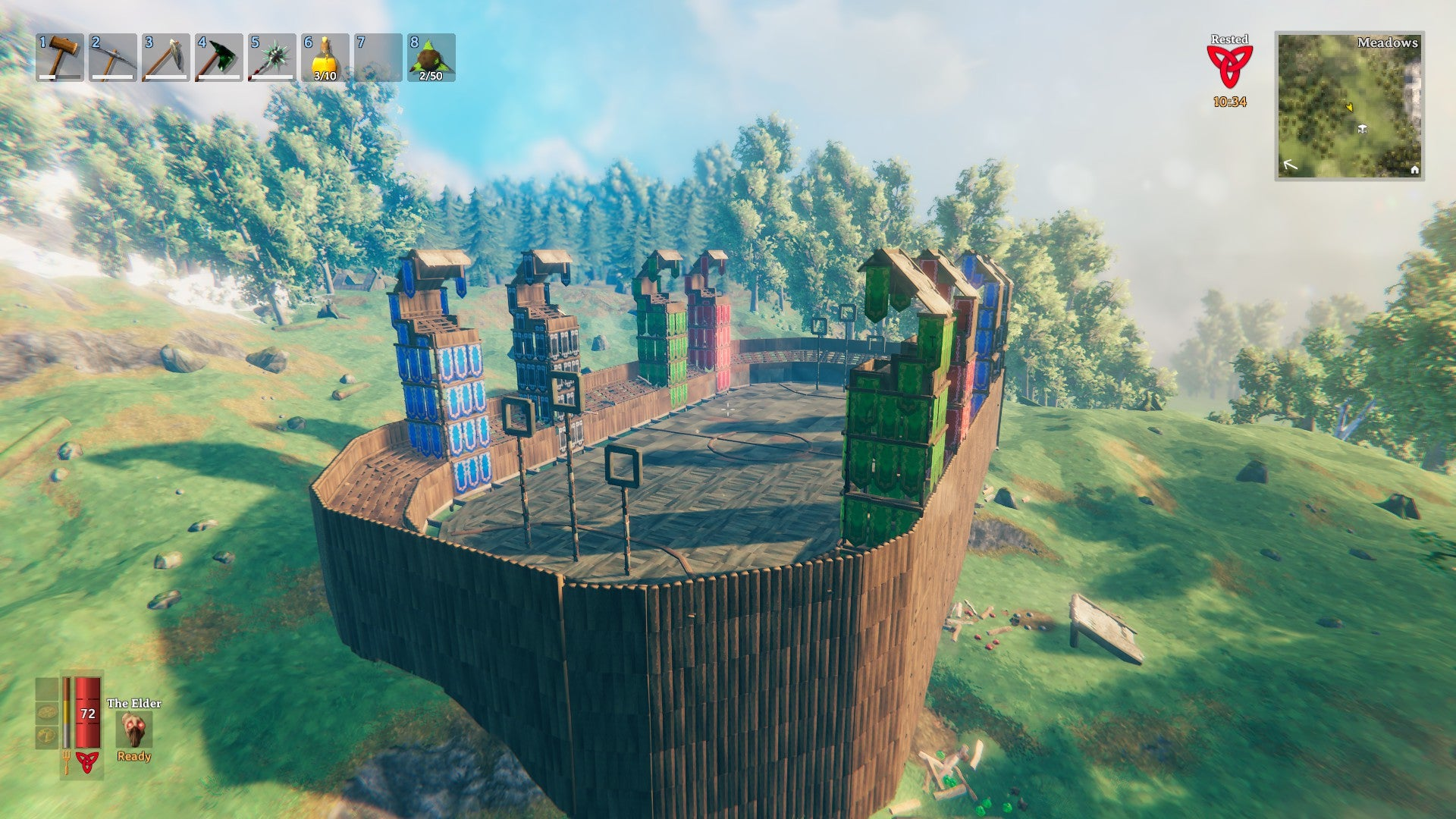 Most impressively, Zabore managed to remake a wonderful recreation of the Quidditch pitch in the video game.