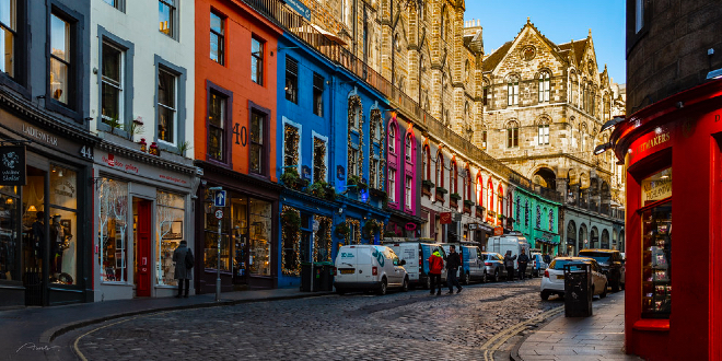 There's lots to do on Victoria Street in Edinburgh.