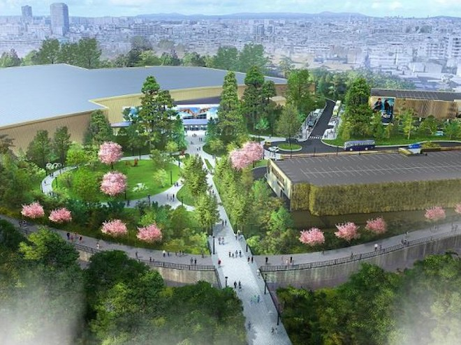 An mock-up image of the Warner Bros. Studio Tour Tokyo location.