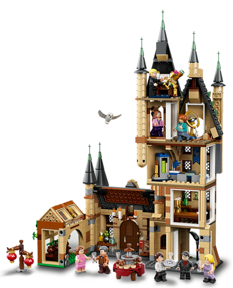 """Set up for LEGO """"Harry Potter"""" Astronomy Tower 75969."""