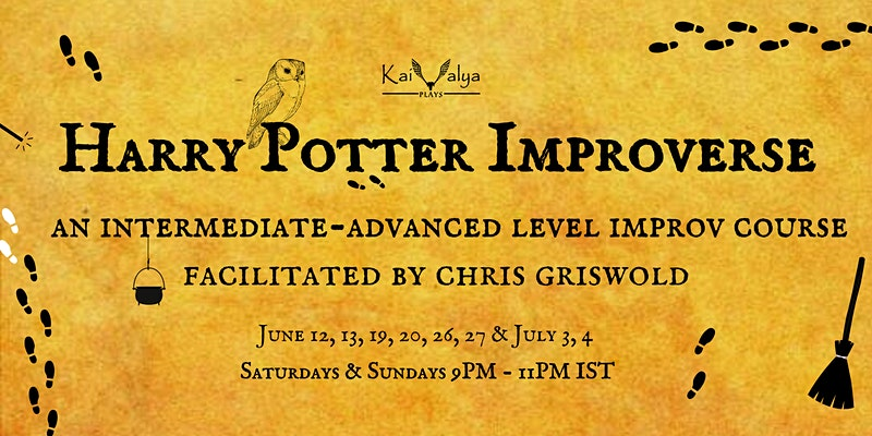"""Advertisement for the """"Harry Potter"""" Introverse improv classes."""