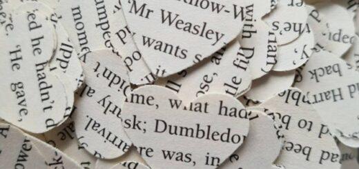 """Harry Potter""-themed wedding confetti."