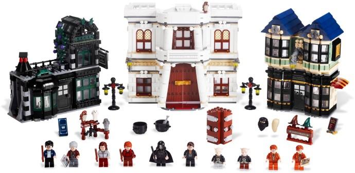Set up for LEGO Harry Potter Diagon Alley 10217.