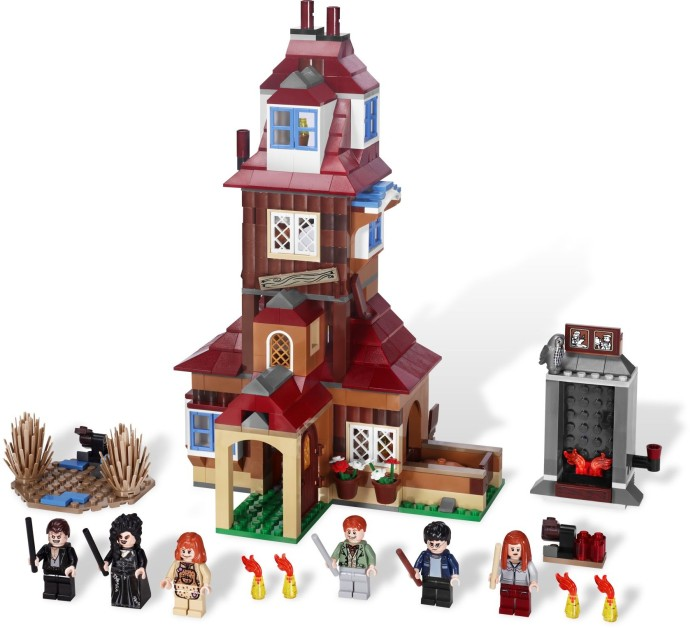 Set up for LEGO Harry Potter The Burrow 4840.