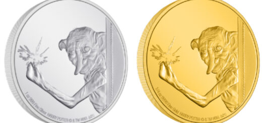 New Zealand Mint Dobby the House Elf silver and gold coins