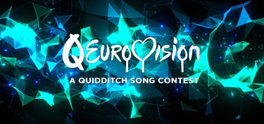 The logo for Qeurovision, the quidditch song contest based on Eurovision, is shown.