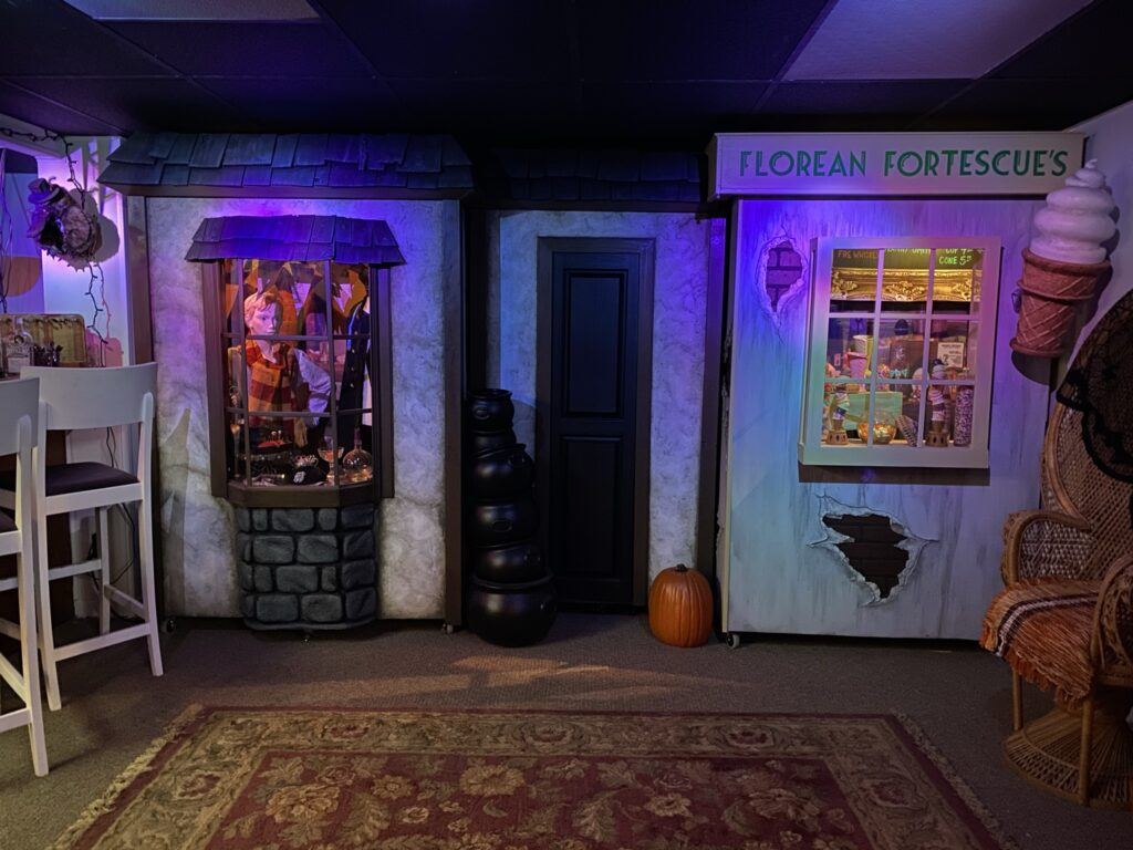 A Harry Potter fan built a partial replica of Diagon Alley in their basement