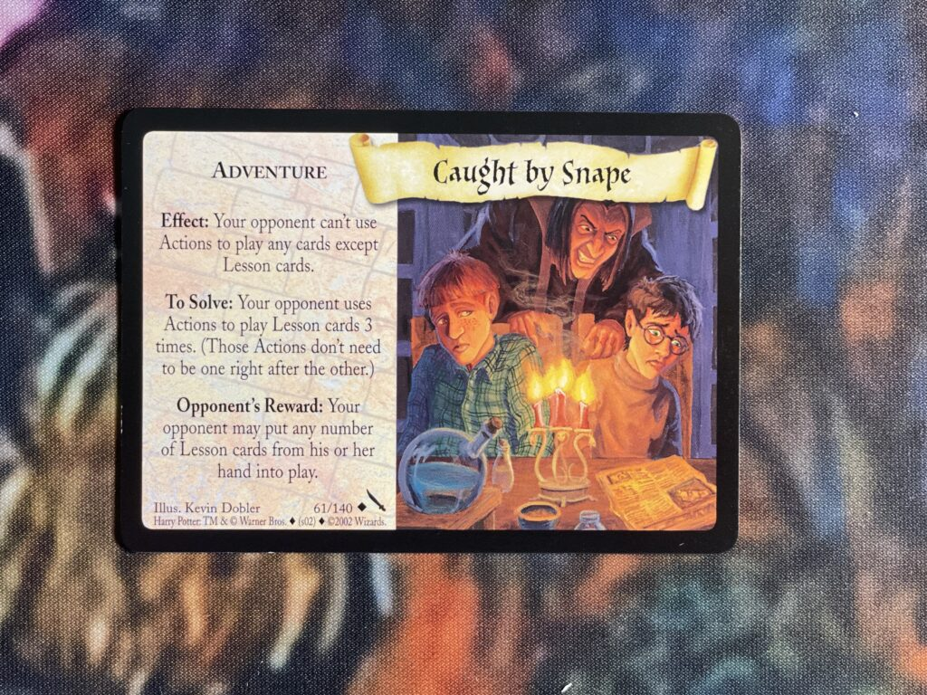 This is the Caught by Snape Adventure card.