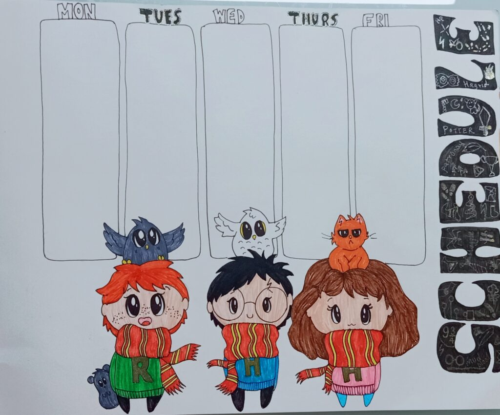 This is the completed version if the DIY timetable.