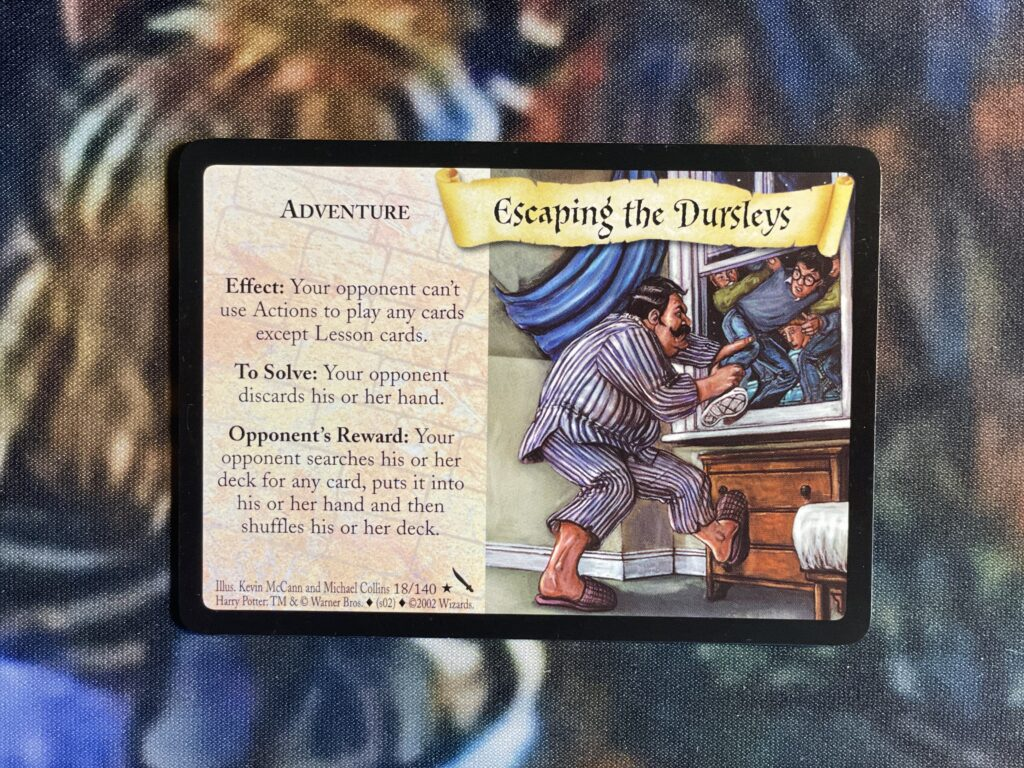 This is the Escaping the Dursleys adventure card.