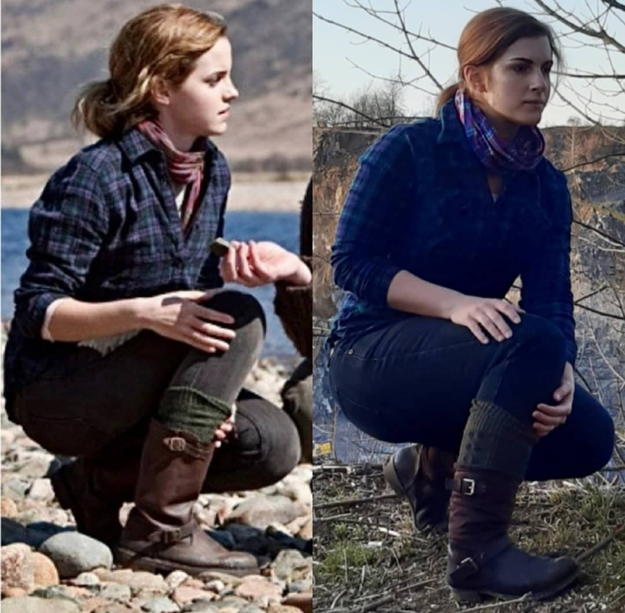 Barbara Rieck cosplays Hermione Granger.