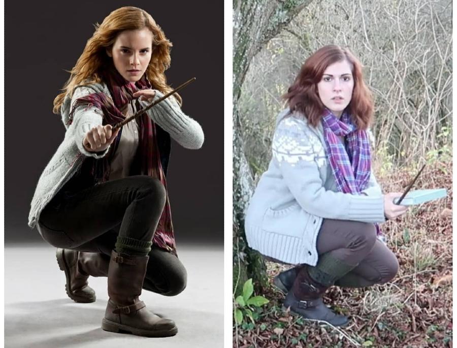 Barbara Rieck as Hermione Granger.