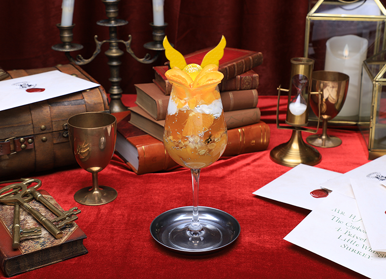 Although the parfait is Golden Snitch-themed, it will be easier to catch than the Quidditch ball!