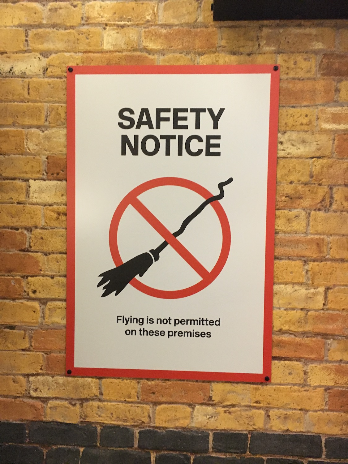 King's Cross safety notice