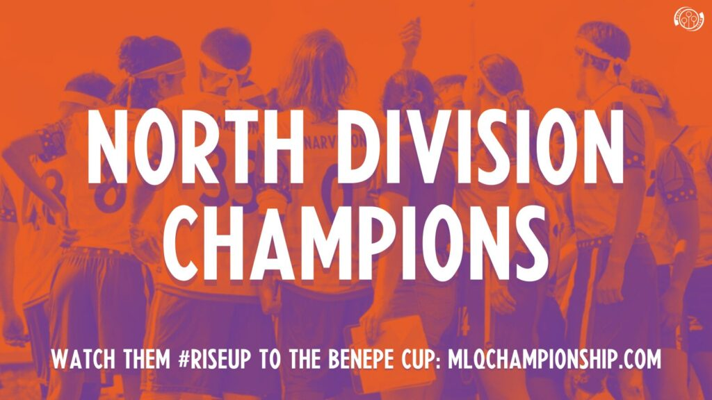 The Minneapolis Monarchs are pictured on orange background in an image declaring the team North Division Champions.