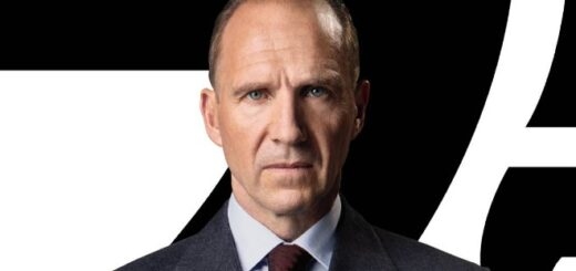 Ralph Fiennes as his James Bond character M.