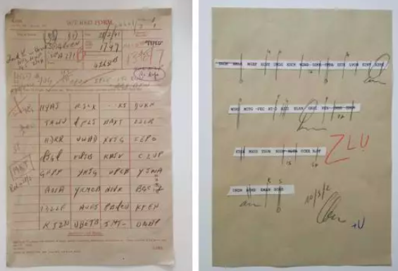"""Two graphic props designed by MinaLima for """"The Imitation Game."""""""