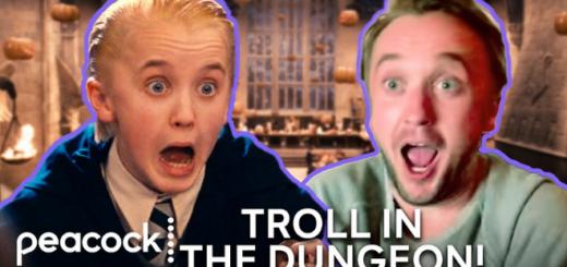 "Tom Felton reacting to his first ""Harry Potter"" scene."