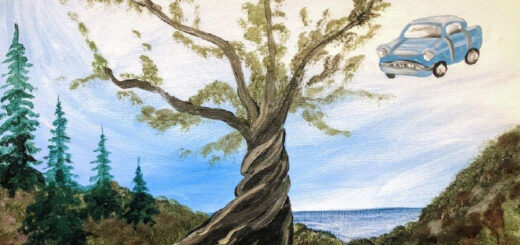Painting of the Whomping Willow from Pinot's Pallette.