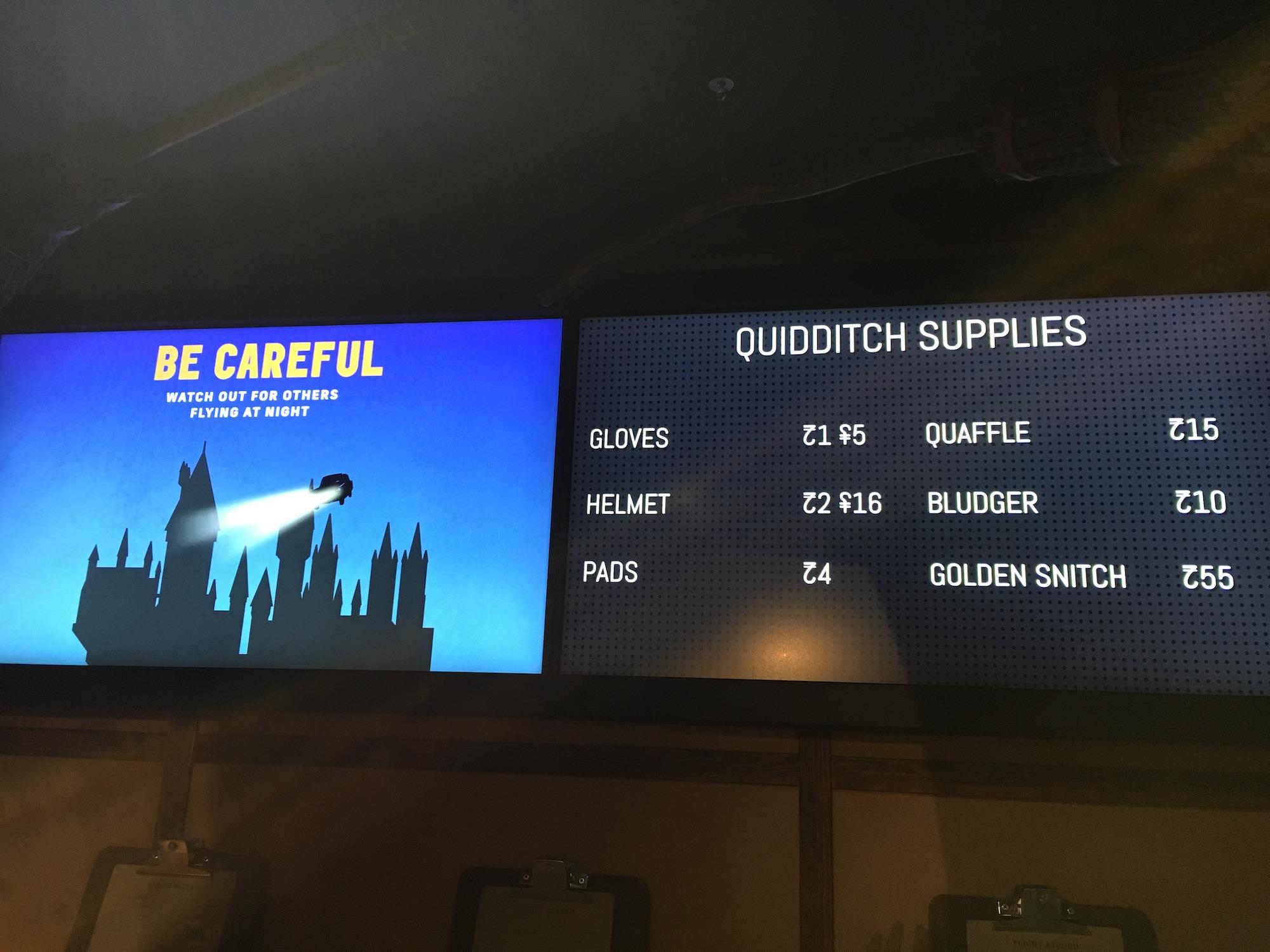 """Wizards Take Flight"" entrance screens"