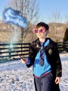 PotterKid channeling his inner luna.
