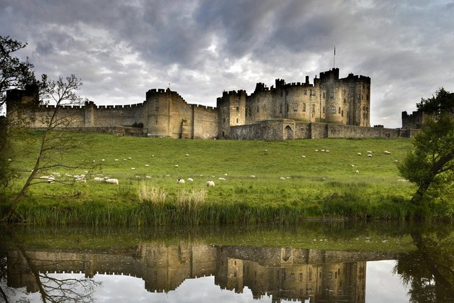 A shot of Alnwick Castle in Northumberland, England