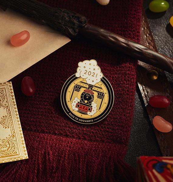The Back To Hogwarts Enamel Pin is on sale for Harry Potter Fan Club Gold members.