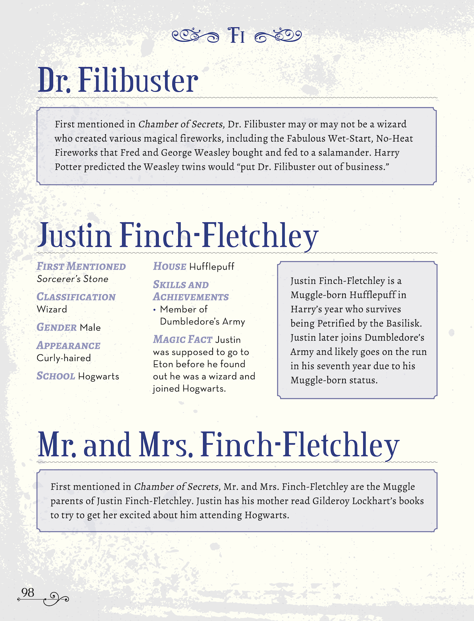 Character Compendium Filibuster