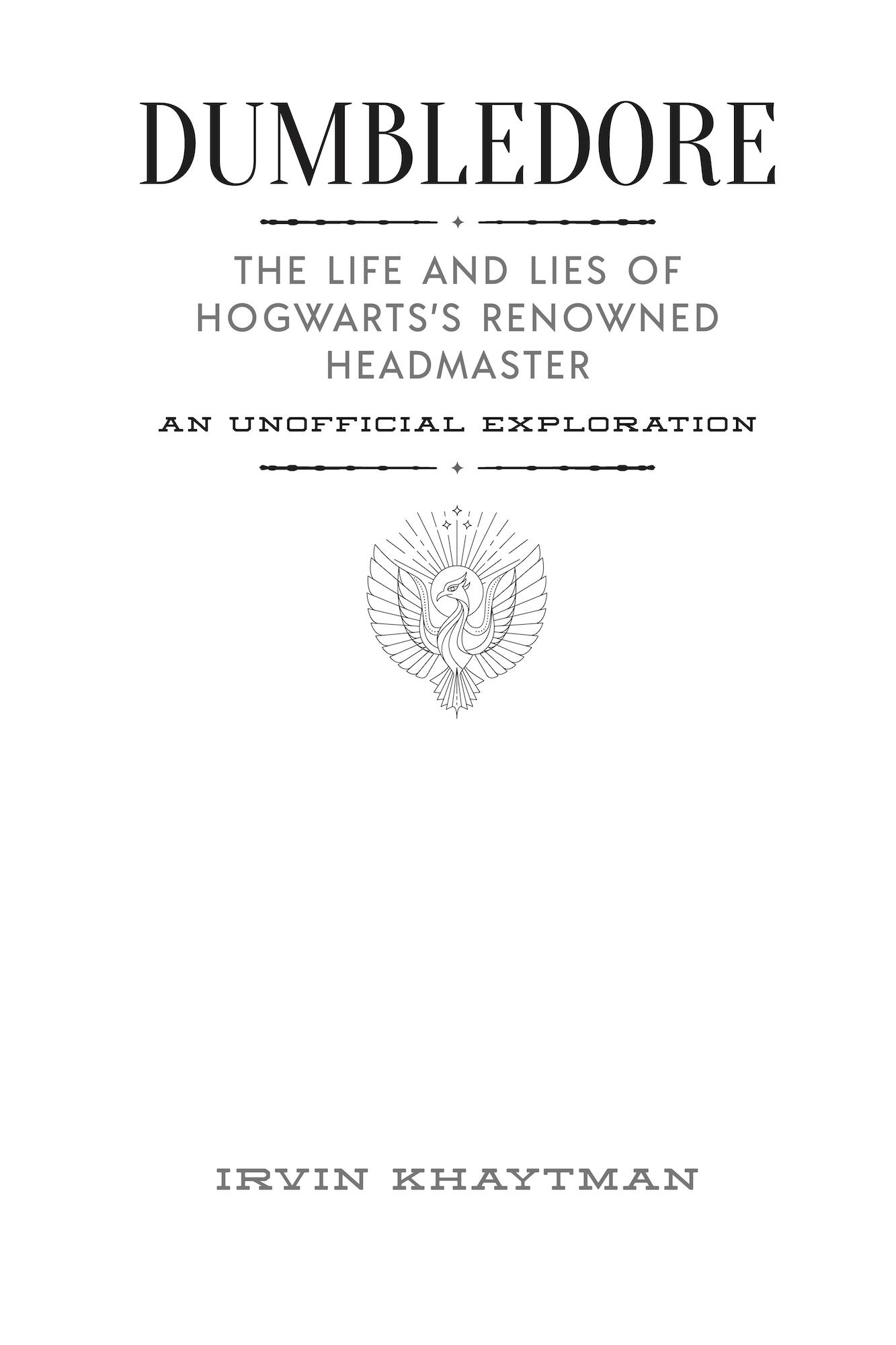 Dumbledore Life Lies title