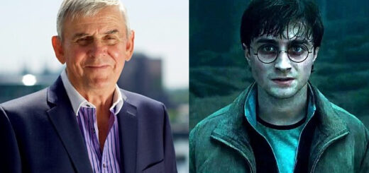 Ernie Rea and Daniel Radcliffe as Harry Potter