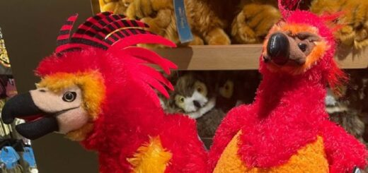Noble Collection Fawkes plushie.