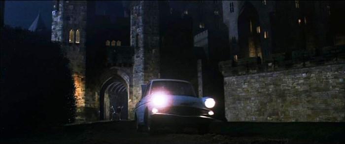 The Ford Anglia at Alnwick Castle