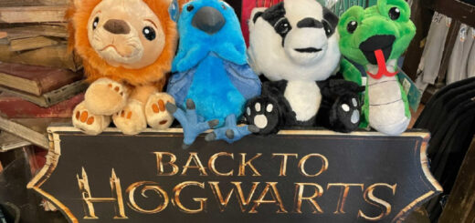 A plush for each of the Houses of Hogwarts.