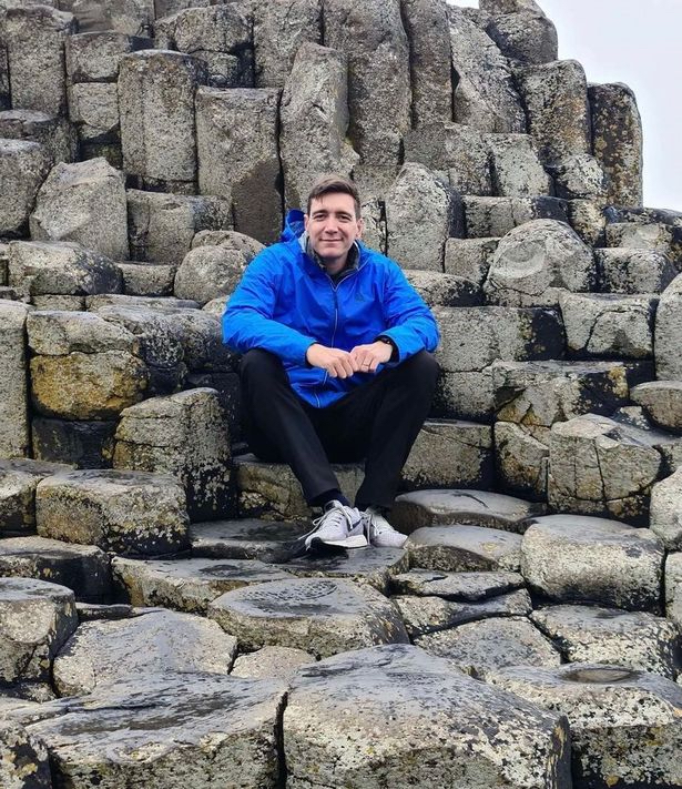 A shot of Oliver Phelps on the Wishing Chair in Northern Ireland
