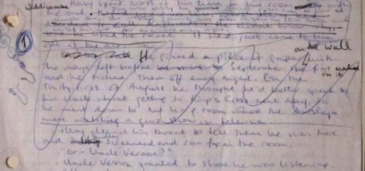 Text from Philosopher's Stone's original manuscript
