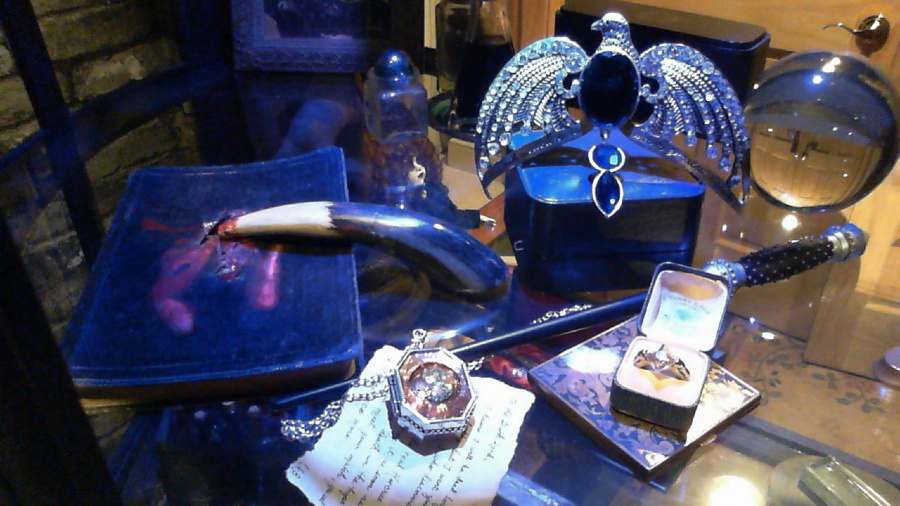 Several props on display created by Corinne Adams.
