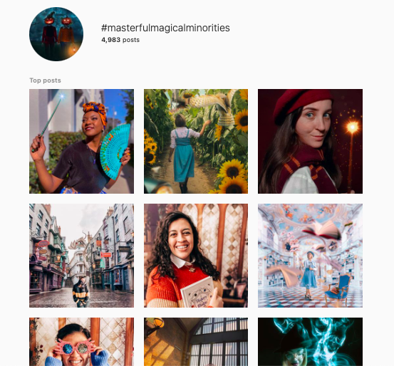 The #MasterfulMagicalMinorities hashtag on instagram is a place on Instagram that celebrates diversity and inclusion