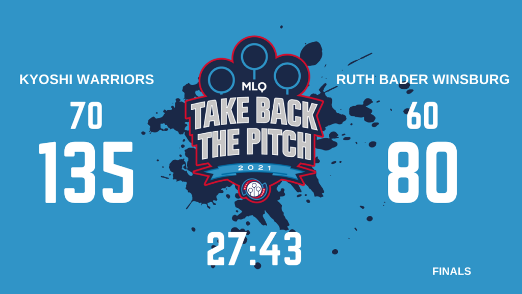 There is a infographic with results of final game of Take Back The Pitch.