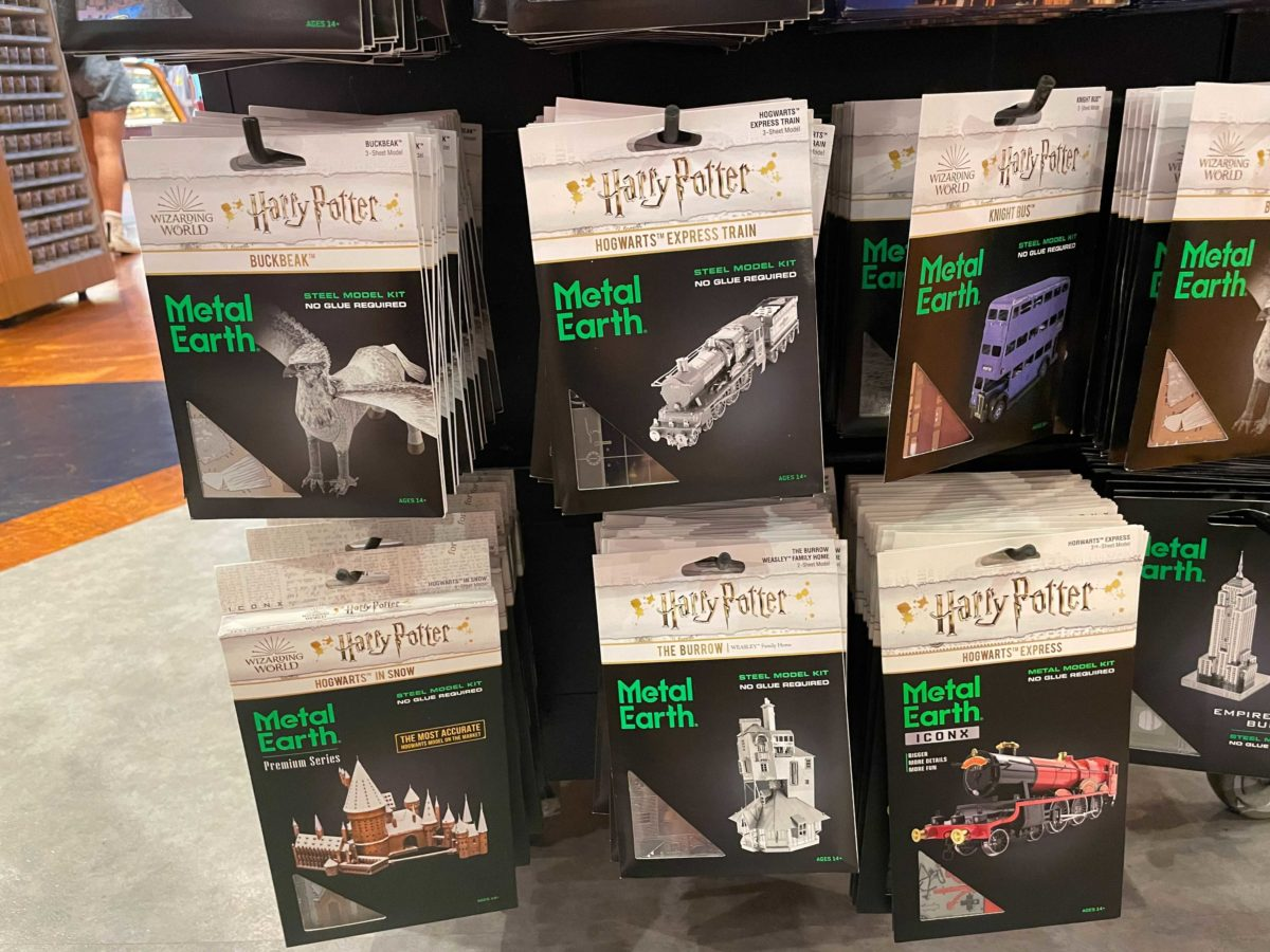 """""""Harry Potter"""" Metal Earth sets, found at the Universal Orlando Resort"""