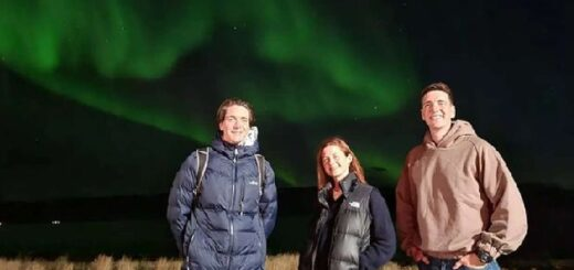 Bonnie Wright, James Phelps, and Oliver Phelps in Iceland.