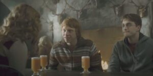 Butterbeer in Harry Potter and the Half-Blood Prince.