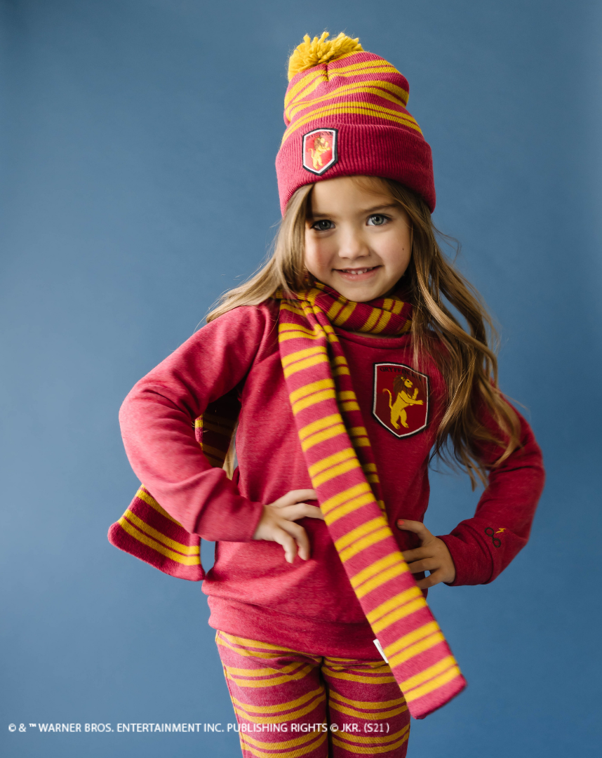 Striking and regal, your cherished Gryffindor children will be proud to sport their House colors in the comfortable clothing from the Harry Potter X Lulu and Roo collection.
