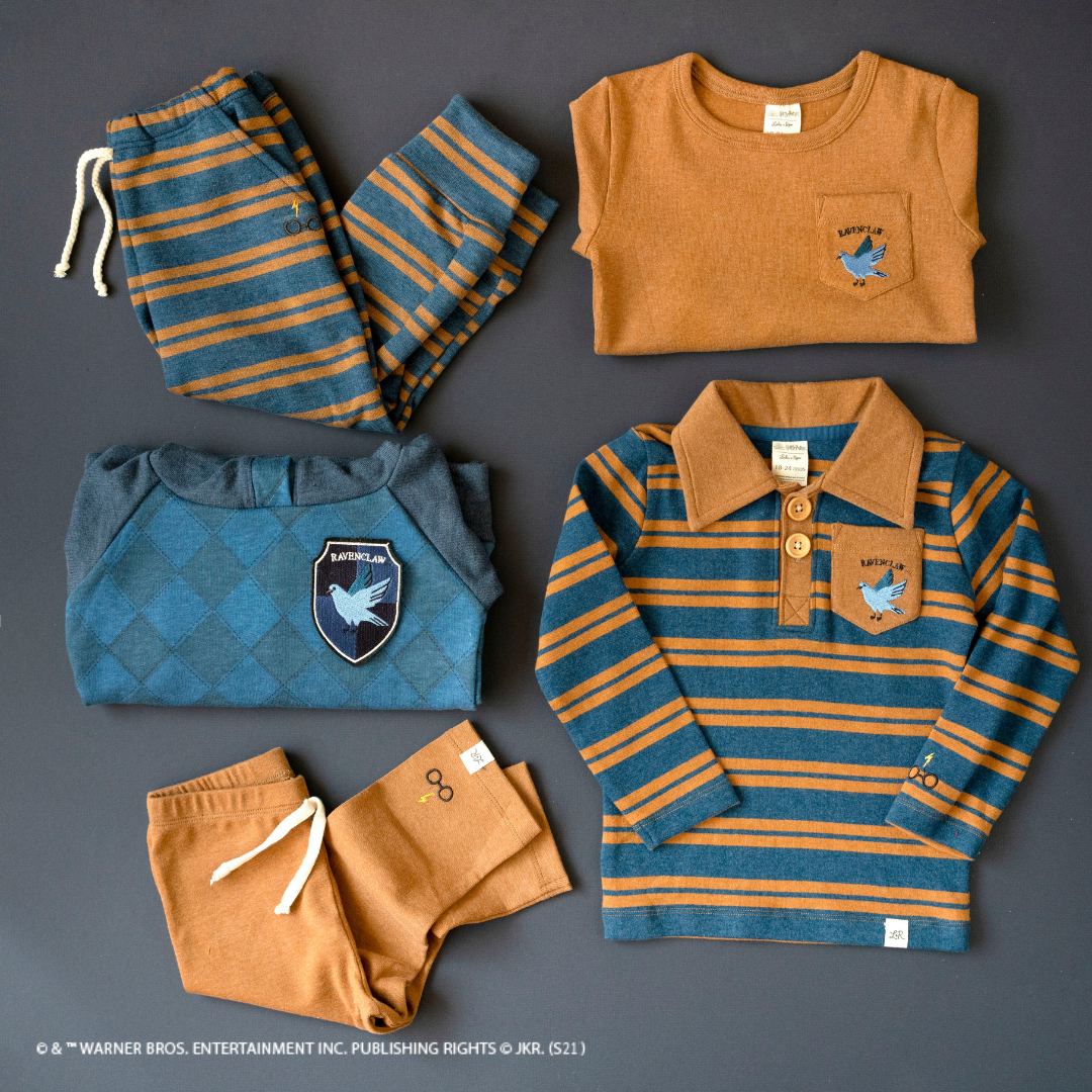 The Harry Potter X Lulu and Roo line of clothing includes hoodies and sweatshirts emblazoned with your Hogwarts House colors.