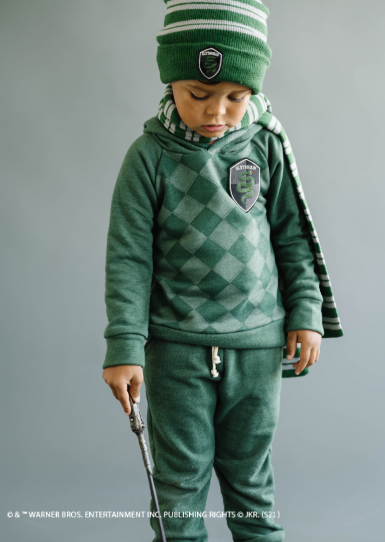 The Slytherin children you know will always be prepared for the cold weather with the scarves and beanies from the Harry Potter X Lulu and Roo collection.