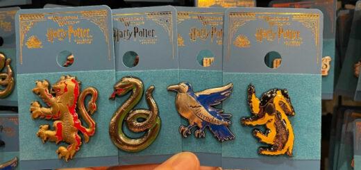 Hogwarts House mascot pins