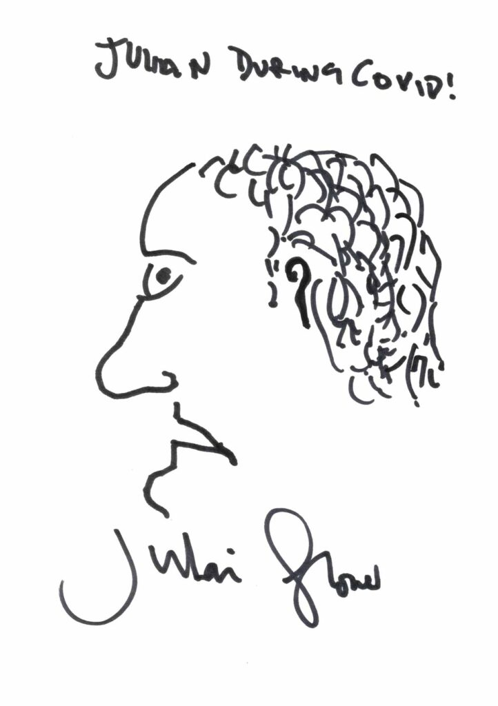 Julian Glover returns to National Doodle Day with another self-portrait.