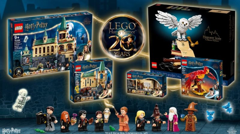 """The selection of prizes to be won in the LEGO """"Harry Potter"""" 20th anniversary contest"""