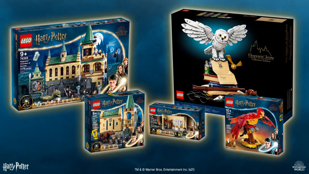 """The winner will receive these five LEGO """"Harry Potter"""" sets"""