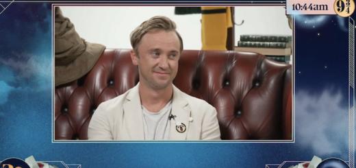 Tom Felton taking part in the Back To Hogwarts livestream.