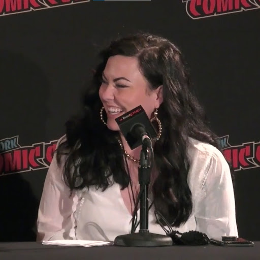 """This is Scarlett St. Clair, author of """"King of Battle and Blood,"""" at NYCC."""